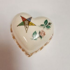 Order of the Eastern Star antique ceramic jewelry